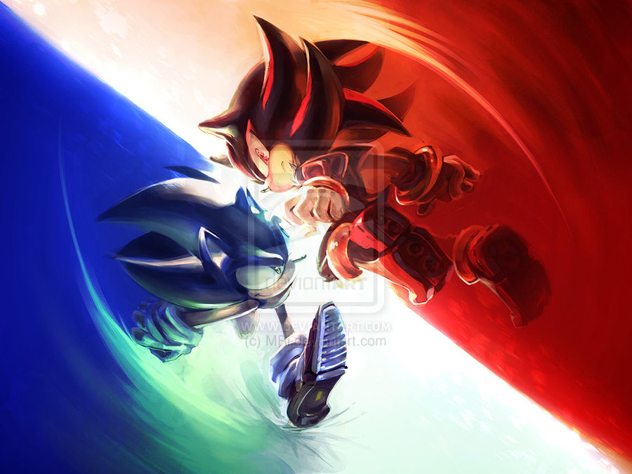 Sonic Vs Shadow Images The Spark Between Them HD Wallpaper