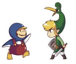 Toon Link vs Penguin Mario