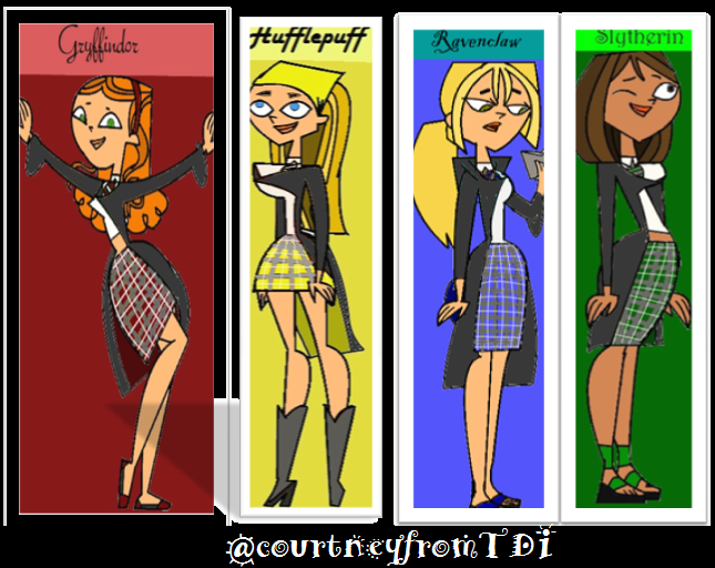 Total Drama Harry Potter Houses!!
