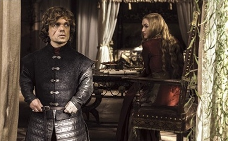House Lannister wolpeyper probably containing a well dressed person and a surcoat entitled Tyrion & Cersei