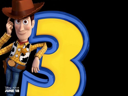 Toy Story Hintergrund with a snap brim hat, a campaign hat, and a fedora called Woody