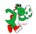 Yoshi and That Egg - yoshi fan art