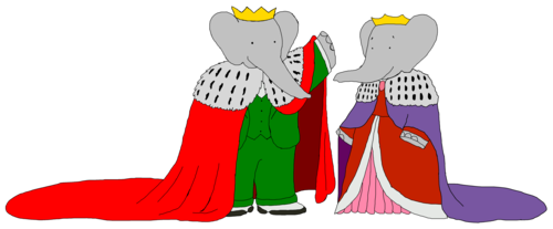 Young King Babar and Young queen Celeste - Mantles