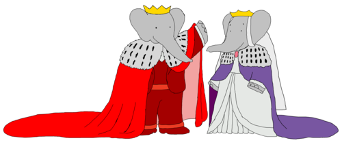 Young King Babar and Young queen Celeste - Royal Wedding