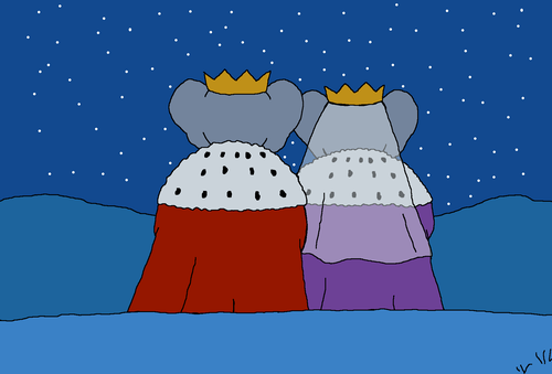 Young King Babar and Young queen Celeste - Stargazing After Wedding