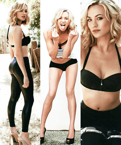Yvonne Strahovski پیپر وال with a bikini, a brassiere, and a lingerie entitled Yvonne S.