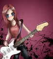 anime girl guitar - msyugioh123 photo