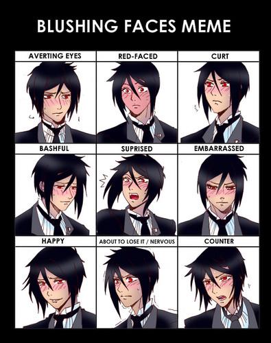 blushing Sebastian