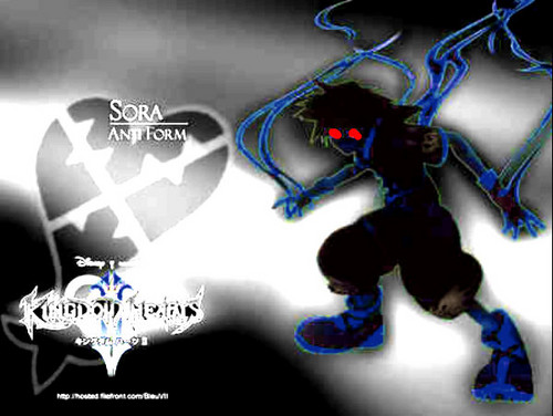 Kingdom Hearts 2 wallpaper entitled dark anti sora 2