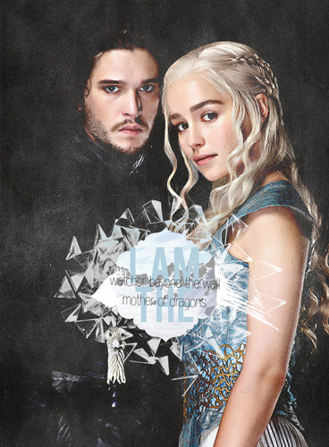 Game of Thrones fond d'écran called Daenerys Targaryen & Jon Snow