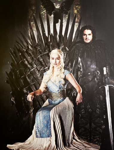game of thrones wallpaper possibly with a polonaise, polineis and a makan malam dress called Daenerys Targaryen & Jon Snow