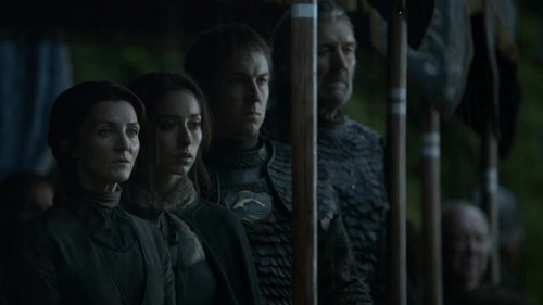 Catelyn, Talisa, Edmure and the Blackfish