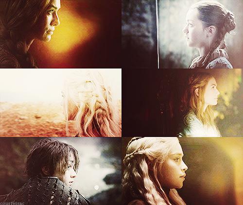 Daenerys, Cersei and Arya + profilo