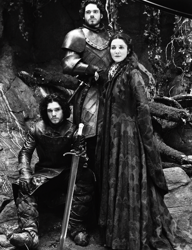 Jon Snow, Robb & Catelyn Stark