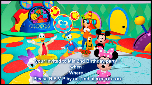 mickey mouse clubhouse invite