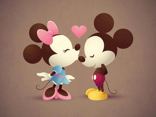 Mickey and Minnie wallpaper titled min