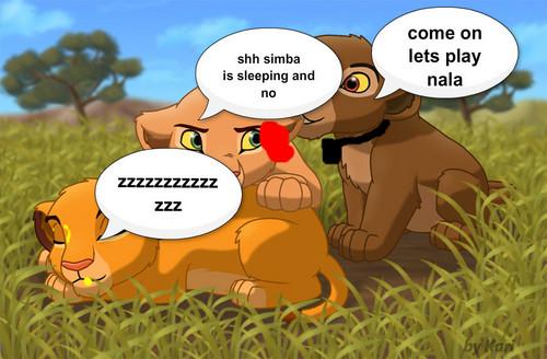 nala and brother and simba