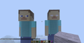 steve and herobrine statue - minecraft photo
