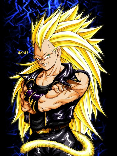 Dragon Ball Z karatasi la kupamba ukuta with anime called super saiyan biker vegeta