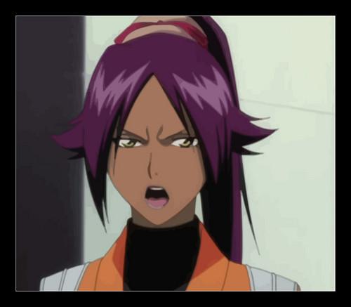 anime ya Bleach karatasi la kupamba ukuta titled yoruichi