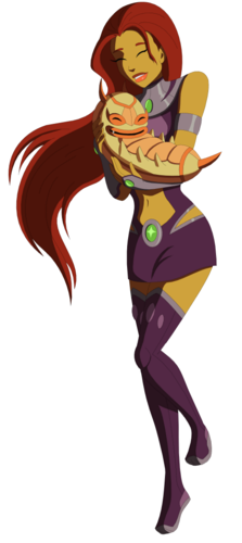 Teen Titans vs. Young Justice Обои titled young justice_starfire and silkie