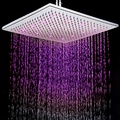 12 Inch Contemporary 7 Colors Changing LED Chrome Shower Faucet Head