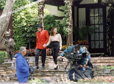 Michael Jackson Hintergrund probably with a traube arbor and a patio titled 1995 Children's Summitt At Neverland Ranch