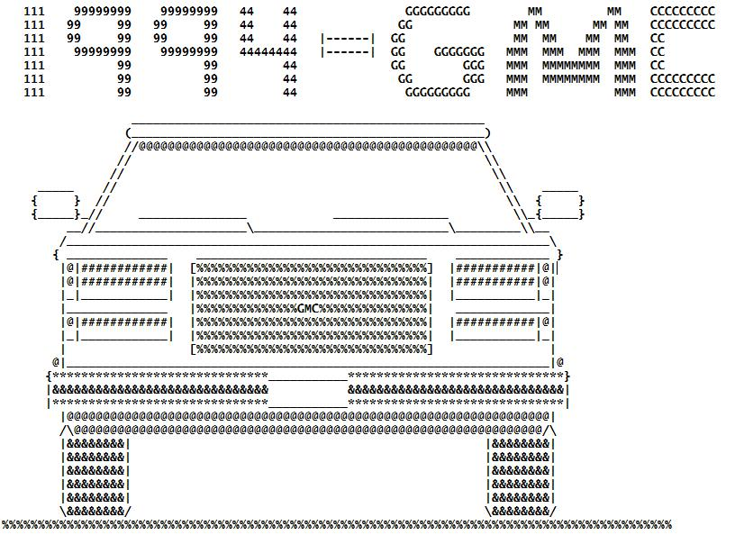 Ascii Art Ascii Vehicle From Httprigsofrodsthreads