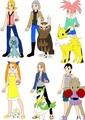 Abigail, Dayton, Lucy, Maylene, Yasmin and Cyrus as Pokemon Trainers