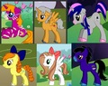 Abigail, Dayton, Lucy, Maylene, Yasmin and Cyrus as Ponies