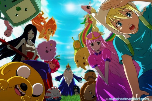 Adventure Time With Finn and Jake wallpaper titled Adventure time anime!!!!