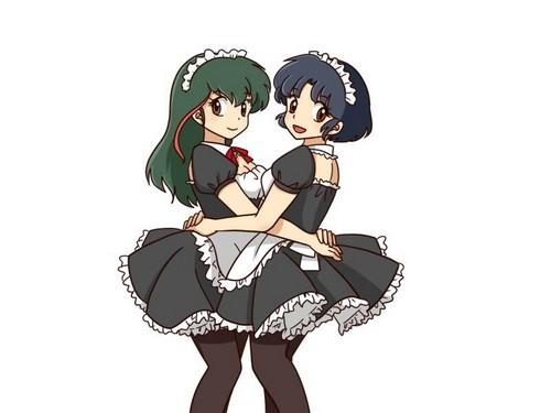 Akane Tendo and Akari Unyru