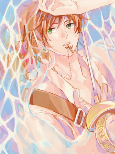 Hetalia Spain fond d'écran possibly containing a sign entitled Antonio ~
