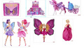 बार्बी Mariposa and the Fairy Princess गुड़िया and stuff