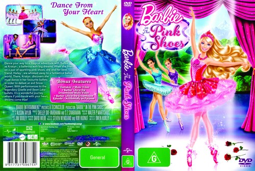 Filem Barbie kertas dinding called Barbie in The merah jambu Shoes DVD Cover