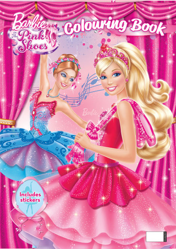 Barbie Movies Wallpaper Probably With A Bouquet Entitled In The Pink Shoes Colouring Book