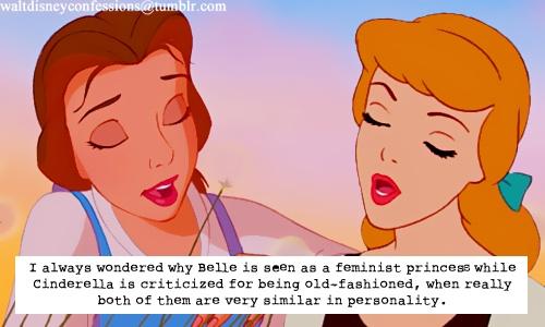 Belle and Cinderella- alike?