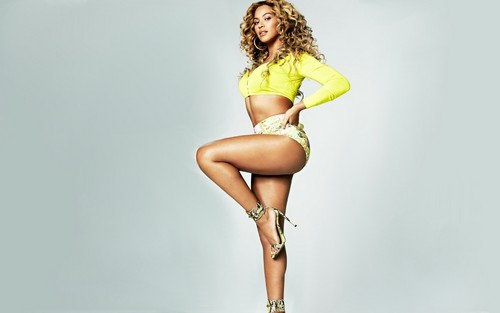 Beyonce wallpaper probably containing a swimsuit entitled Beyonce Shape Magazine