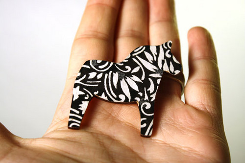 Black & White Brooches