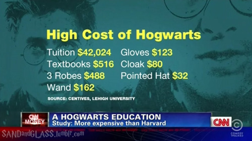 CNN actually researched how much it would cost to go to Hogwarts.