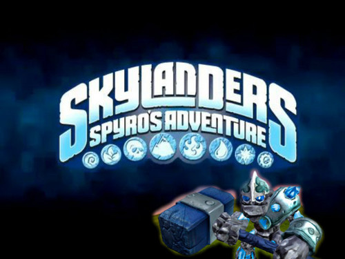 Skylanders: Spyro's Adventure wallpaper probably containing a diner and a multiplex titled CRUSHER AND SKYLANDER PIC