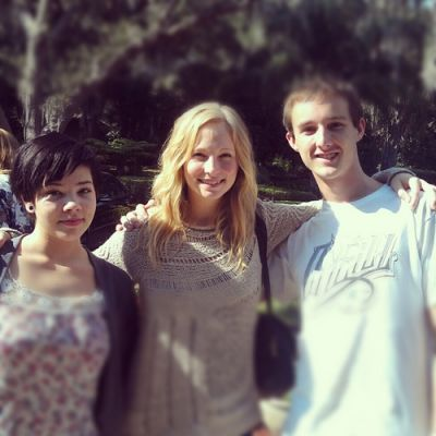 Candice Accola hình nền containing a jersey and a portrait titled Candice with her family at Thanksgiving {22/11/12}