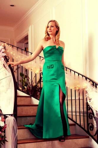 Caroline in her gowns