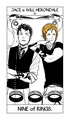 Cassandra Jean's Tarot Cards: Jace & Will Herondale {Nine of Rings}. - the-infernal-devices photo