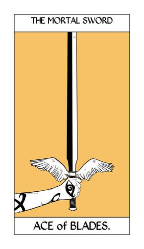 Cassandra Jean's Tarot Cards: The Mortal Sword {Ace of Blades}.