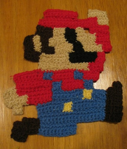 Crochet Mario carpet