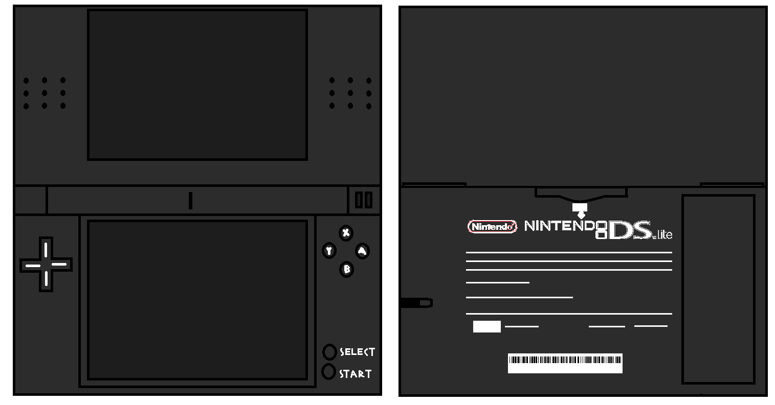 Nintendofan12s Papercraft Things Images Ds Lite Black Hd Wallpaper Nintendo Edge And Background Photos