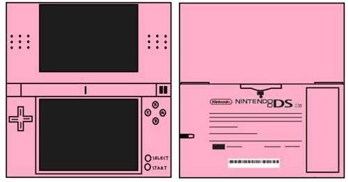 Ds Lite berwarna merah muda, merah muda