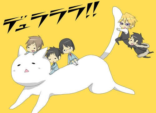 Chibi wallpaper with anime entitled Durarara!!