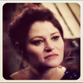 Emilie de Ravin on set - once-upon-a-time photo